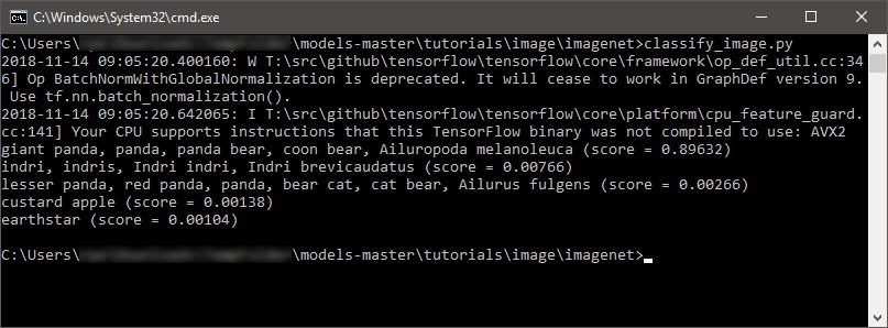 imagenet output