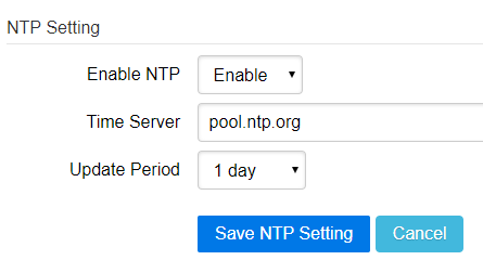 Enable ntp server