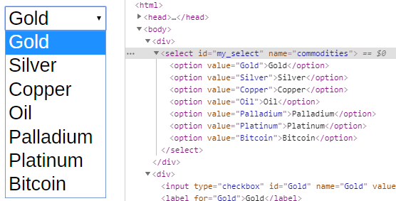 html select