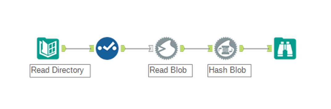 Alteryx Blob Hashing